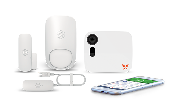 Ooma build your own home security system.