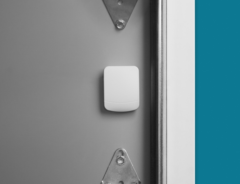 Ooma garage door sensor for home security.