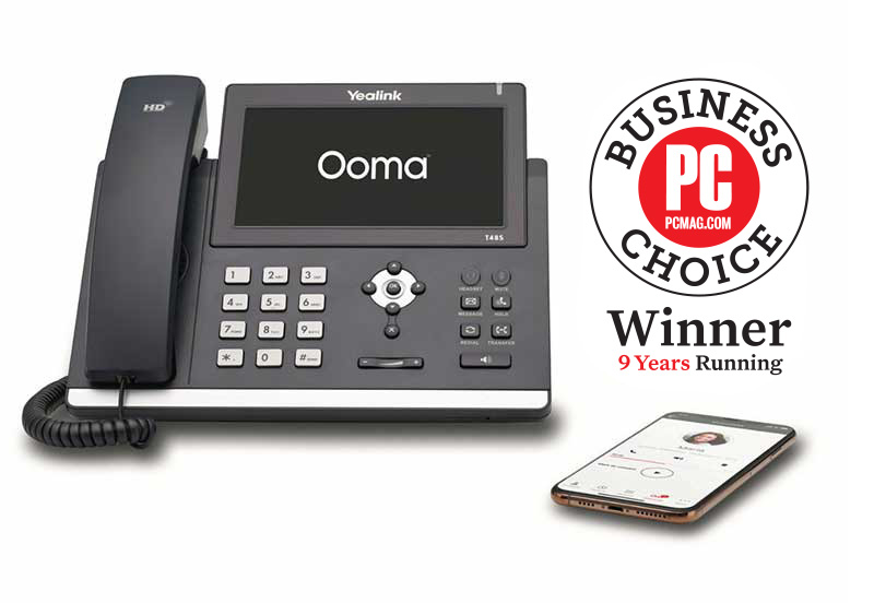 Ooma Yealink T48S with PCMag Logo