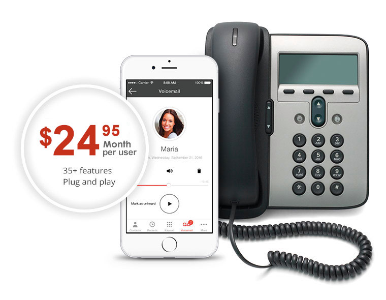 Business phone service with mobile and desktop phone CDN$ 24.95 promo.